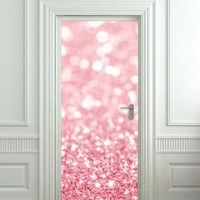 "GIANT Door STICKER bling glitter rose shimmer sparks , mural, decole, film 30x79"" (77x200 Cm)"