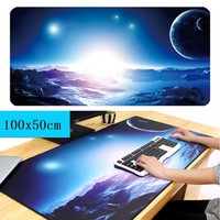 100*50cm Super large mouse pad big size desk mat keyboard pad XXL XXXL gaming mousepad map Night sky star anime one piece Beach