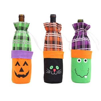 Creative Pumpkin Ghost Goody Bottle Case Candy Cartoon Children Transparent Halloween Candy Jar Party Bottles Layout Props Gift