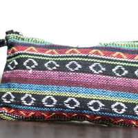 Womens Bohemian Bag, Serape Boho Coin Purse, Fabric Hand Bag, Boho Makeup Bag, Zipper Closure Purse, Gift for Her, by My fashion creations