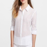 Women's Equipment 'Brett' Allover Eyelet Shirt