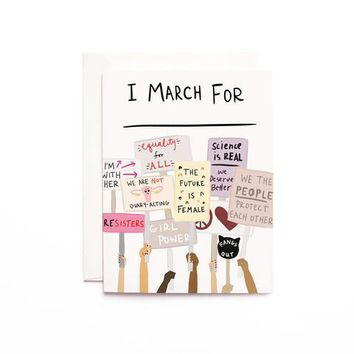 I MARCH FOR GREETING CARD