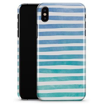 Ocean WaterColor Ombre Stripes - iPhone X Clipit Case