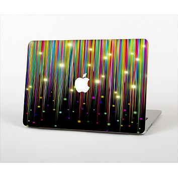 The Falling Neon Color Strips Skin Set for the Apple MacBook Pro 13""