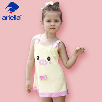 4-12 year old new children's swimsuits Korea Siamese girls skirt-style hot spring bathing swimsuit large children's s ari-3302