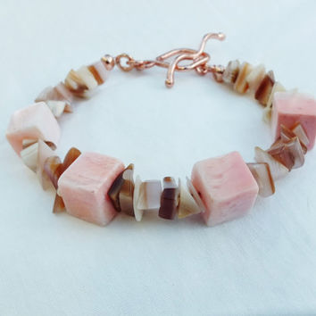 Pink Shell Bracelet, Pink Shell, Jewellery UK