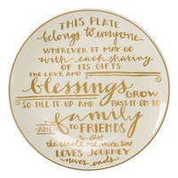 Primitives by Kathy Thanksgiving Stoneware Plate | Nordstrom