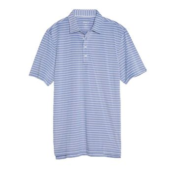 Cay Striped Pique Prep-Formance Pique Polo in Marlin by Johnnie-O