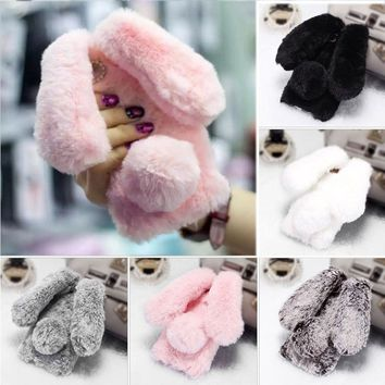 Rabbit Bunny Warm Furry Fur TPU Case Iphone