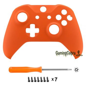 Custom Soft Touch Orange Replacement Mod Housing Shell for Xbox One X & One S Controller