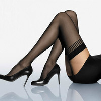 2016 Solid Colors Lady Sexy Lace Polyester Top Mesh Thigh High Stockings Knee Socks Long Tights Pantyhose Medias Summer Style