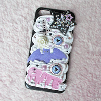 Kawaii Pastel Goth Black iPhone 5/5S Case