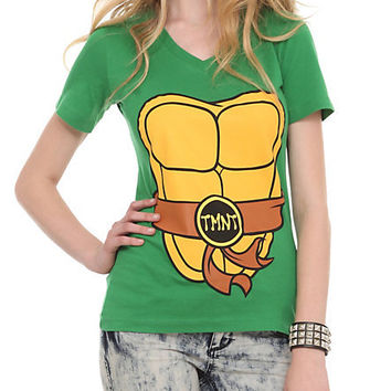 Teenage Mutant Ninja Turtles Costume V-Neck Girls T-Shirt | Hot Topic