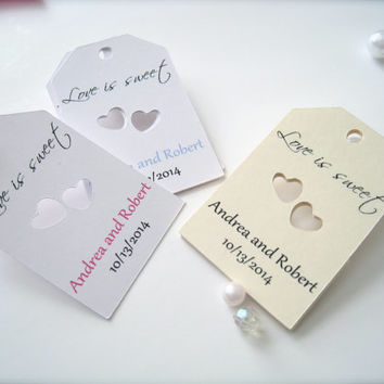 Personalized Wedding Favor Tags, die cut tags, Thank You tags, Favor tags, Gift tags - 30 count