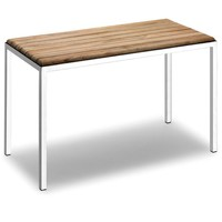 Lux Natura Backless Shower Bench Stool Chair for Bathroom Shower Seat, Teak Wood