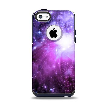 The Violet Glowing Nebula Apple iPhone 5c Otterbox Commuter Case Skin Set