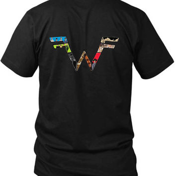 Weezer Logo With Photo Fan Art 2 Sided Black Mens T Shirt
