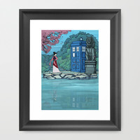 Cannot Hide Who I am Inside Framed Art Print by Karen Hallion Illustrations