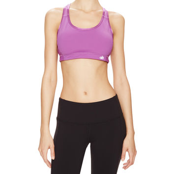 Alo Yoga Enamour Sports Bra - Purple - Size XS