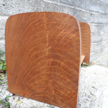 Vintage solid wood book stand - stunning hard wood book shelf stand - brown vintage wood - beautiful piece
