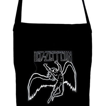 Led Zeppelin on Black Sling Bag Hard Rock Book Bag