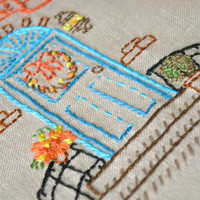 Thanksgiving Embroidery Pattern hand embroidery pattern decorate door & porch «Be thankful»  by NaiveNeedle