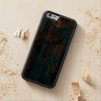 Natural Turquoise Stone Carved® Walnut iPhone 6 Bumper Case