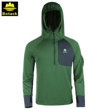 Outdoor male hoodie fishing sunscreen half zipper clothing men breathable UV camping hiking long sleeve hooded fishing shirts