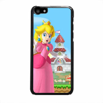 mario and princess peach left iphone 5c 5 5s 4 4s 6 6s plus cases