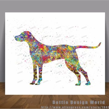 Hungarian Vizsla dog print Watercolor Canvas painting wall art poster print Pictures Home Decor Wall hanging Mothers day gifts