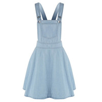 Womens Elegant pocket strap Denim Dress sleeveless casual Overalls dresses vestidos femininos SM6