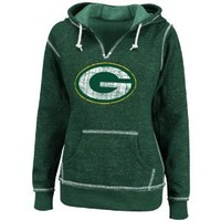 Green Bay Packers Green Women's O.T. Td Ii Marled Hooded Sweatshirt, Medium