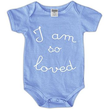 Blue 'I Am So Loved' Bodysuit - Infant