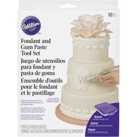Wilton Cake Decorating Fondant and Gum Paste 10-Piece Tool Set 1907-1350 - Walmart.com