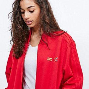 Adidas X Pharrell Supercolor Track Jacket in Red - Urban Outfitters
