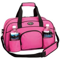 Womens Pink Tote Bag Sports Duffle Bag Workout Gym Bag Yoga Bag Carry On Luggage