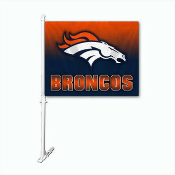 Denver Broncos Official NFL Car Flag