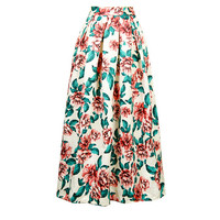 Floral Print Pleated Skirt 10394