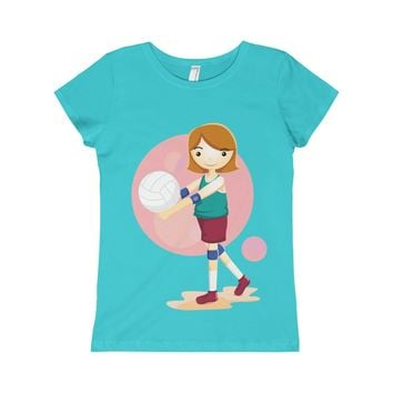 Volleyball Girls Princess Tee