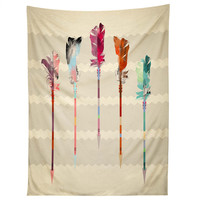 Iveta Abolina Feathered Arrows Tapestry