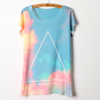 Cute Galaxy Short Sleeve T Shirt Top