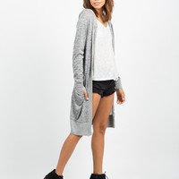 Contrast Open Hooded Cardigan