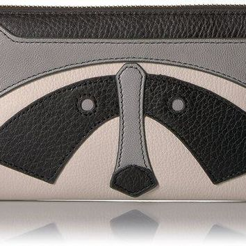 PEAPGQ6 Fossil Caroline Rfid Zip Around Wallet Grey Wallet