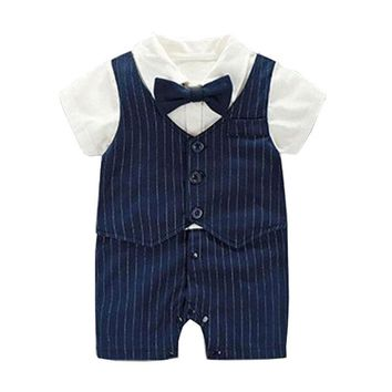 Formal Rompers Newborn Baby Boy Clothes For Party and Wedding Christening Birthday Clothing Infant Boy Summer Outerwear Jumpsuit