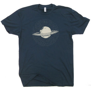 Saturn T Shirt Vintage Nasa T Shirt Geek T shirt Funny Saturn Planet T Shirt Science T Shirt Nerdy T Shirts Cool T Shirt