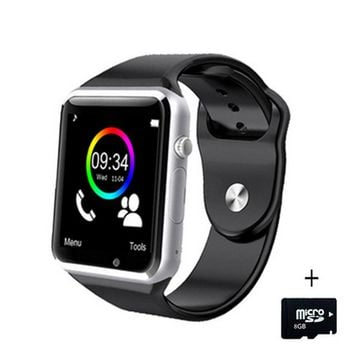 A1 WristWatch Bluetooth Smart Watch Sport Pedometer Tracker Sync Smartwatch For Android Smartphone Russia T15 PK DZ09 GT08 Y1