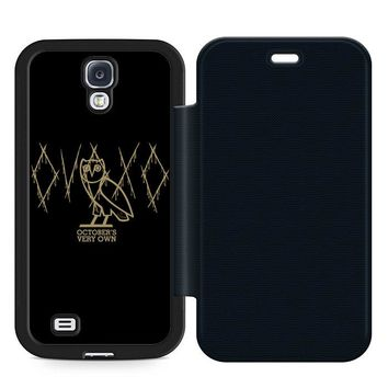 Ovoxo October Very Own Leather Wallet Flip Case Samsung Galaxy S4