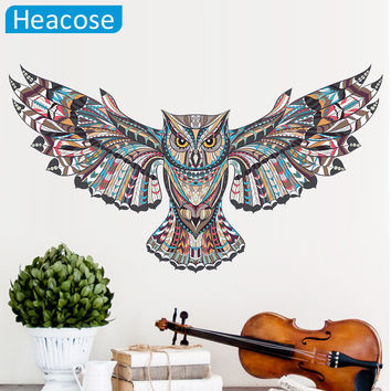 Owl wall sticker big birds wall stickers for kids rooms ceiling muursticker muraux wall decal home decor living room poster