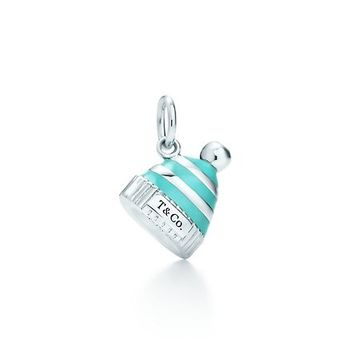 Tiffany & Co. -  Snow hat charm in sterling silver with Tiffany Blue® enamel finish.