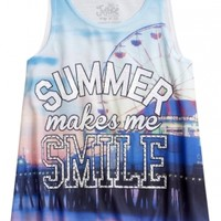 Graphic High Neck Tank